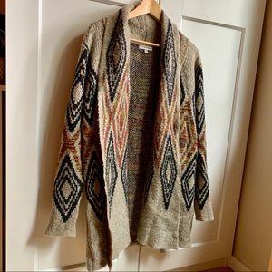 Cute Patterned Wrap Sweater